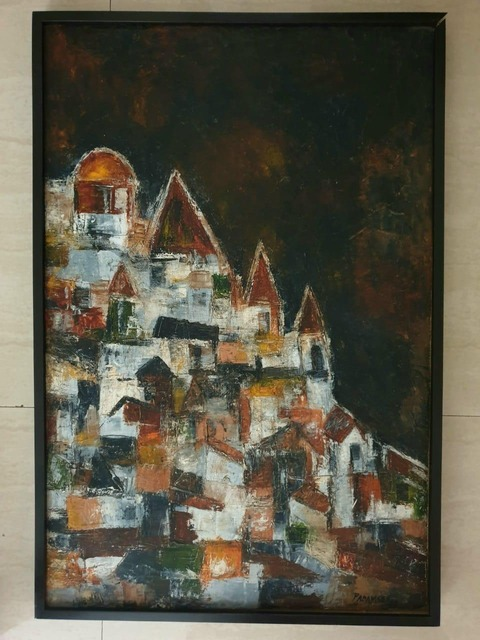 Akbar Padamsee, 'Untitled Cityscape', 1962, Painting, Dry pigments with oil and acrylic meidums on paper, Aicon Gallery