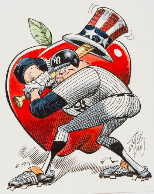 Jack Davis, 'New York Yankees Baseball Illustration; Original Art', 1990, The Illustrated Gallery