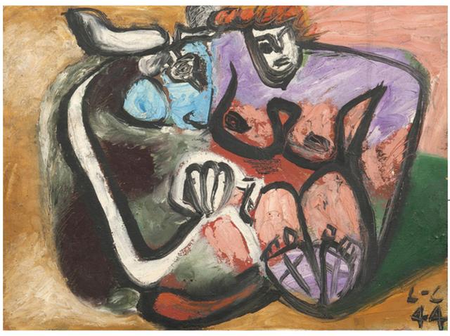 , 'Taureau et femme enlacés,' 1944, BAILLY GALLERY