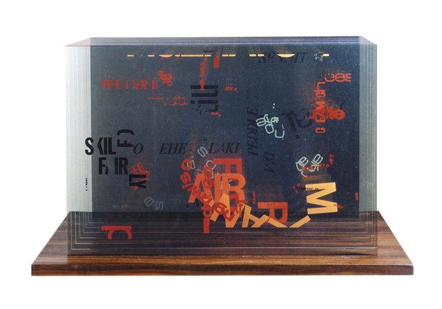 , 'Not wanting to say anything about Marcel, Plexigram II,' 1969, Fondazione Bevilacqua la Masa