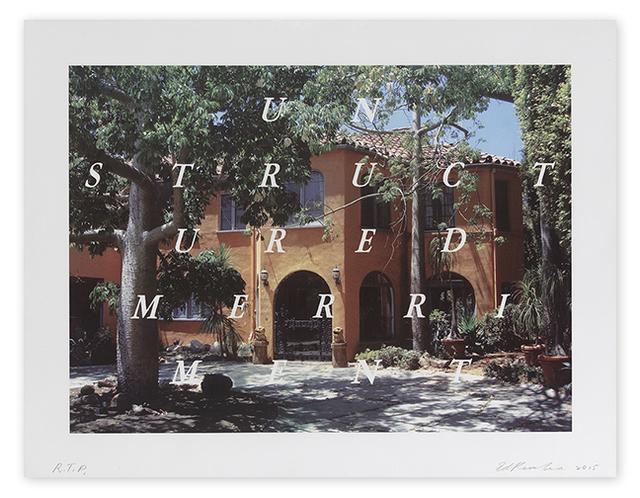 Ed Ruscha, 'Unstructured Merriment', 2016, Print, 9-color lithograph/screenprint, Upsilon Gallery