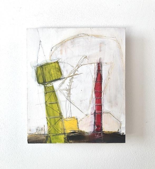 Kelton Osborn, 'Red Missile', 2020, Painting, Mixed media on panel, Michael Warren Contemporary