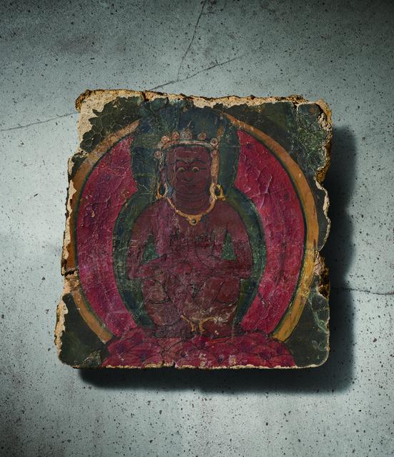 , 'A Polychrome Fresco Fragment of Rectangular Form Painted with Mahasiddha Seated Cross-legged 西藏13|14世紀 灰泥彩繪彌勒菩薩圖壁畫殘部,' Tibet: 13|14th century, Rasti Chinese Art