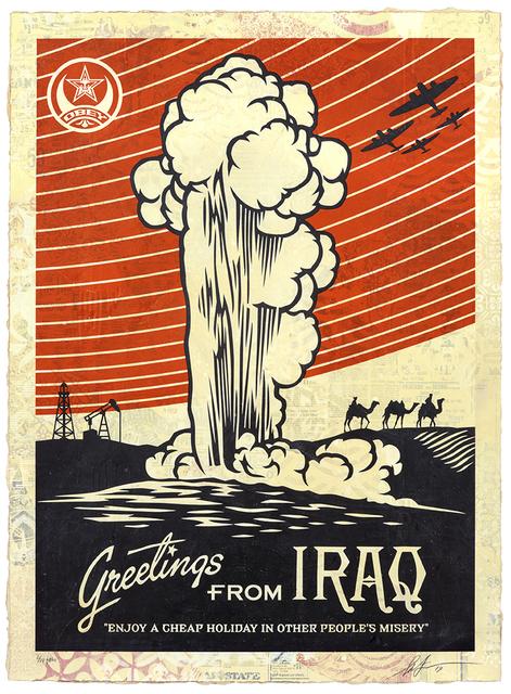 Shepard Fairey, 'Greeting from Iraq', 2019, Samuel Owen Gallery