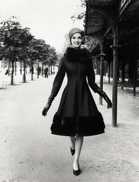 , 'Model wearing Jules Francois Crahay for Nina Ricci,' 1960, CAMERA WORK