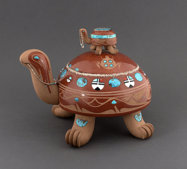 , 'Sculpted Redware Turtle,' 1975, Blue Rain Gallery