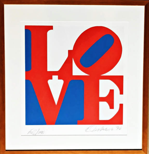 , 'LOVE  (signed and dedicated to John),' 1996, Alpha 137 Gallery