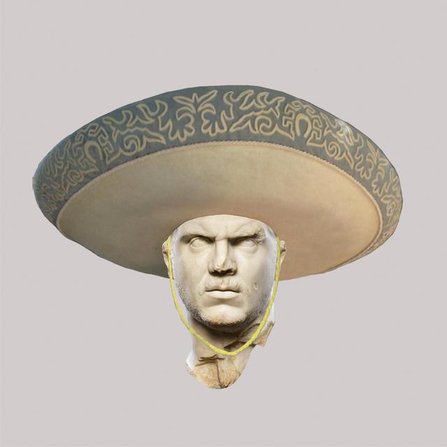 , 'Roman Emperor Caracalla/Mexican Mariachi Hat,' 2018, JAUS
