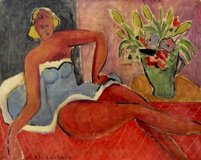 , 'Woman lying close to a vase of flowers,' 1942, Gallery On The Move