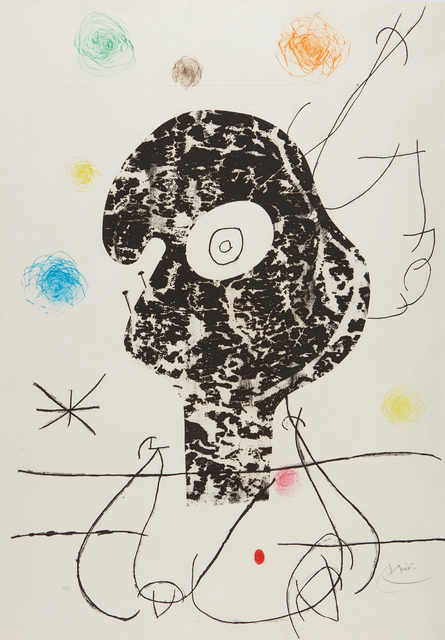 Joan Miró, 'Emehpylop (Cyclops)', 1968, Print, Etching, drypoint and cement print in colors, on Madeure rag paper, the full sheet, Phillips