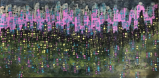 Gerald Gallant, 'Ville Lumiere', 2018, Painting, Acrylic on Canvas, Galleria Dante