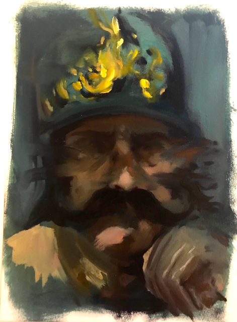 ", '""Self Portrait as Diego's Mars"",' 2017, Novado Gallery"