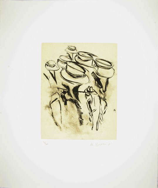 Willem de Kooning, 'Seventeen Lithographs for Frank O'Hara: One plate', 1988, Upsilon Gallery