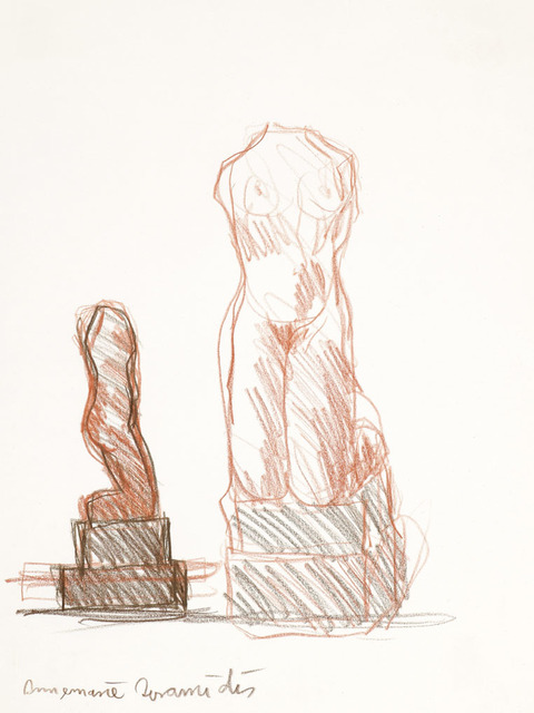 ", 'Kniende ""Marmor"" (Kneeling ""Marble""),' 1970, Galerie Bei Der Albertina Zetter"