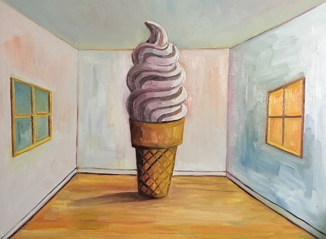 , 'Soft Served Magritte,' 2018, bG Gallery