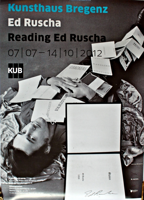 , 'Reading Ed Ruscha (Hand Signed),' 2012, Alpha 137 Gallery