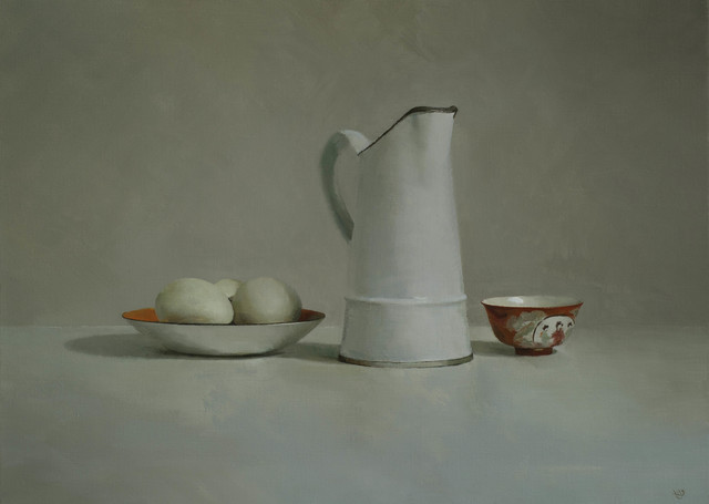 , 'French Jug, Eggs, Chinese Bowl,' 2016, Beaux Arts Bath