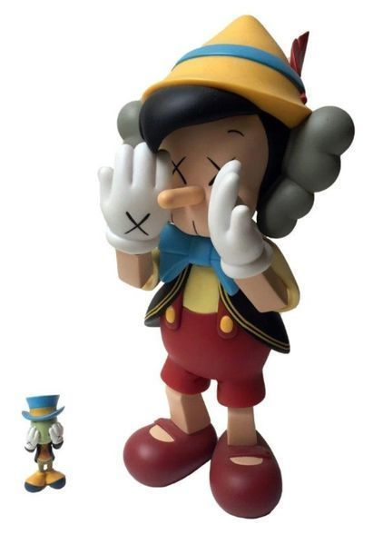 KAWS, 'Pinocchio & Jiminy Cricket', 2010, Digard Auction