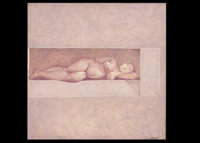 Jamil Naqsh, 'untitled - reclyning nude ', 2009, Painting, Oil on canvas, Eye For Art Houston