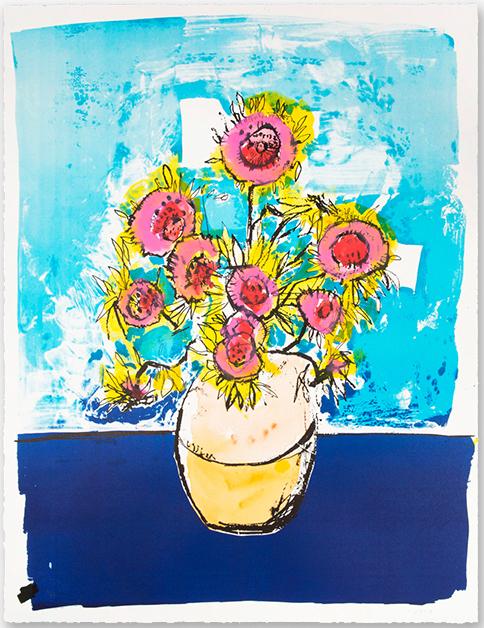Anthony Lister, 'Marilyn Van Gogh Sun Flowers HPM (Blue Edition)', 2018, Print Them All