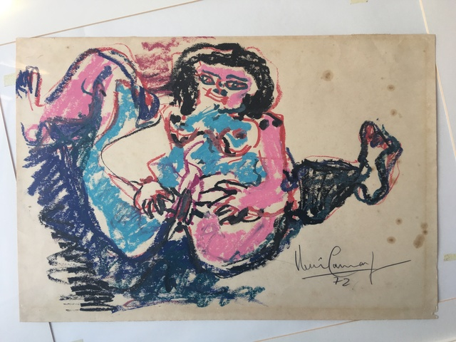 Iberê Camargo, 'Jackie Onassis', 1972, GTG Art and Design