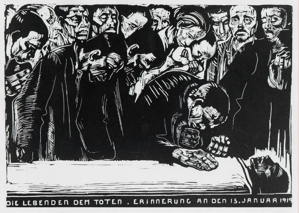 The Living to the Dead. In Memory of January 15, 1919. (Mourning the death of Karl Liebknecht)