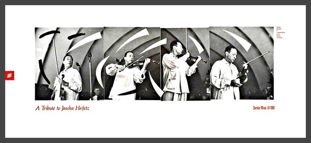 , 'Tribute to famed violinist Jascha Heifetz (Rare limited edition offset lithograph poster),' 1988, Alpha 137 Gallery