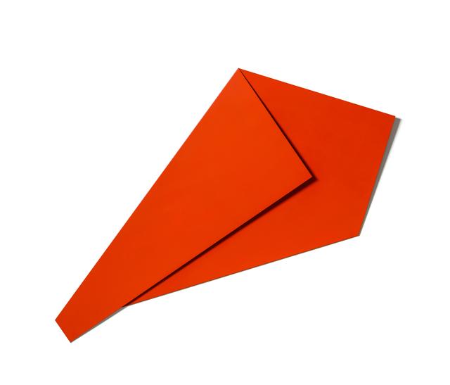 , 'XL Folded Flat Light Red 02,' 2019, Galerie Nikolaus Ruzicska