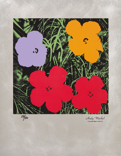 Andy Warhol, 'Flowers: Master American Contemporaries', 1994, Print, Screenprint in colors, on etched aluminum sheet, with full margins, folded at the upper and lower sheet edges (as issued), Phillips