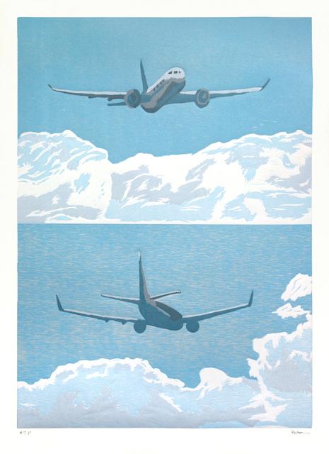 Richard Bosman, 'Round Trip 1', 2014, Print, Woodcut, Tandem Press