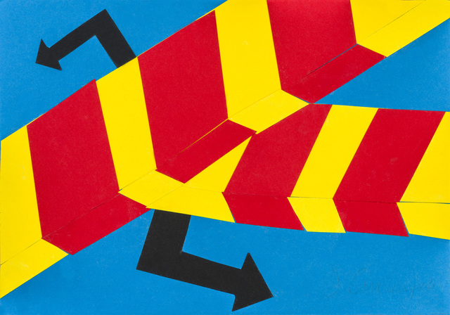 Allan D'Arcangelo, 'Untitled', 1980, Drawing, Collage or other Work on Paper, Collage on postcard, ArtRite
