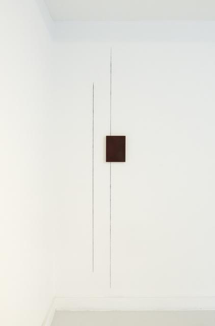 , 'Thioindigo with wall drawing,' 2016, Petra Gut Contemporary