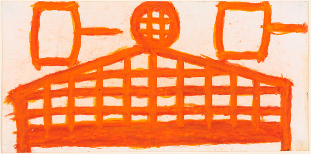 , 'Fence (Orange with spools),' 2004, Creativity Explored