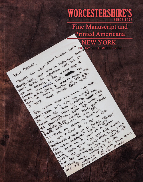 , 'Catalogue Cover (Manuscripts),' 2013, Rosamund Felsen Gallery