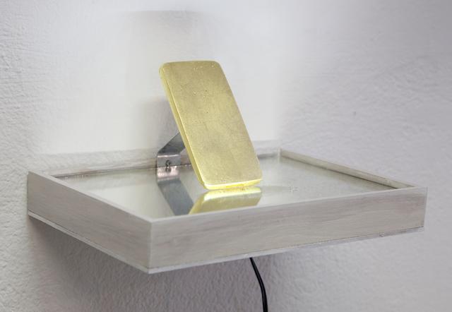 Rosmarie Lukasser, 'Ikone i1.1', 2014, Sculpture, Plaster, beaten foil, Galerie Krinzinger