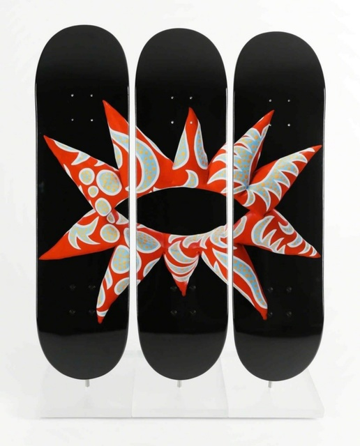 Yayoi Kusama, 'Skateboard Triptych (Set of three (3) separate skateboards)', 2014, Ephemera or Merchandise, Set of 3 Separate Limited Edition numbered skate decks on 7-ply Canadian maplewood, Alpha 137 Gallery