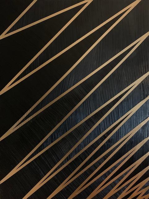 Carole Jury, 'Tower Series Bichrome Black & Gold #1', 2019, Painting, Cotton Canvas, Alessandro Berni Gallery