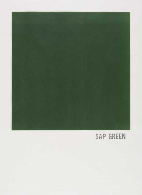 , 'Sap Green,' 2016, Highpoint Editions