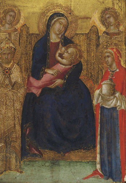 , 'The Madonna and Child Enthroned with Saints Nicholas and Mary Magdalene and angels,' , Christie's Old Masters