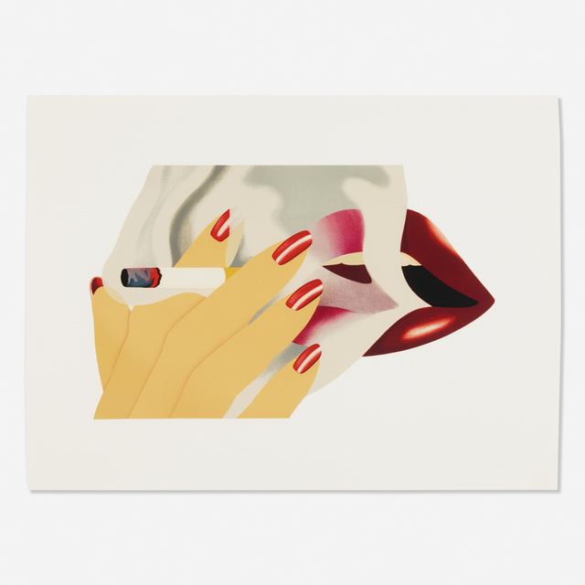 Tom Wesselmann, 'Smoker', 1976, Print, Lithograph in colors with embossing on Arches, Rago/Wright