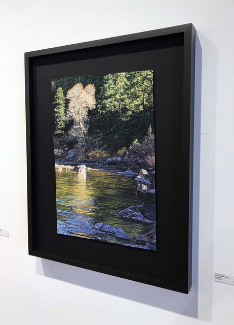 Carol Shinn, 'Quiet Riverside', 2021, Textile Arts, Embroidery, Duane Reed Gallery