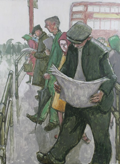 , 'The bus queue ,' ca. 1965, Castlegate House Gallery