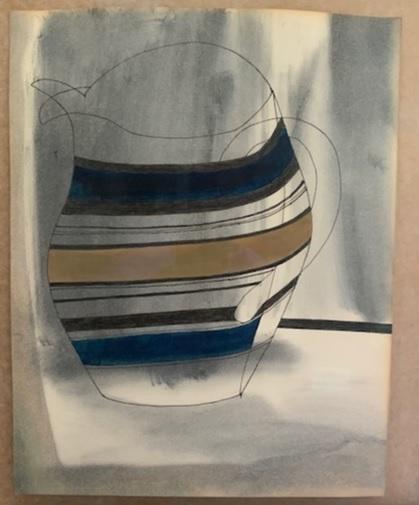 , 'Striped Jug,' 1979, Osborne Samuel