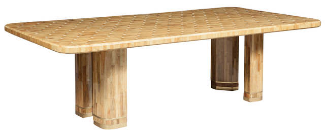 Ron Seff, 'Raffia Wood Marquetry Dining Table', 1980s, Doyle
