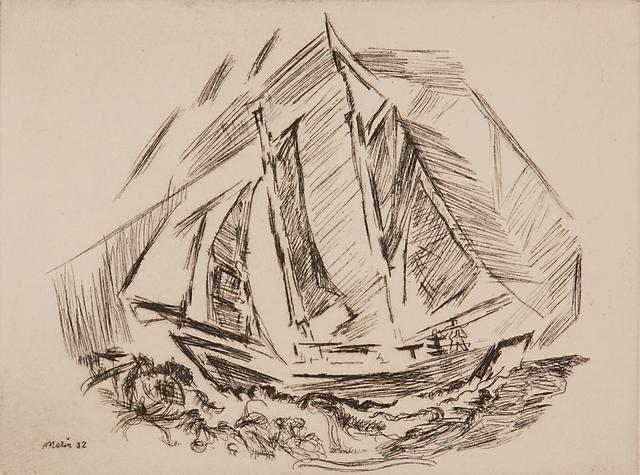 John Marin (1870-1953), 'Untitled (Sailboat)', 1932, Rago