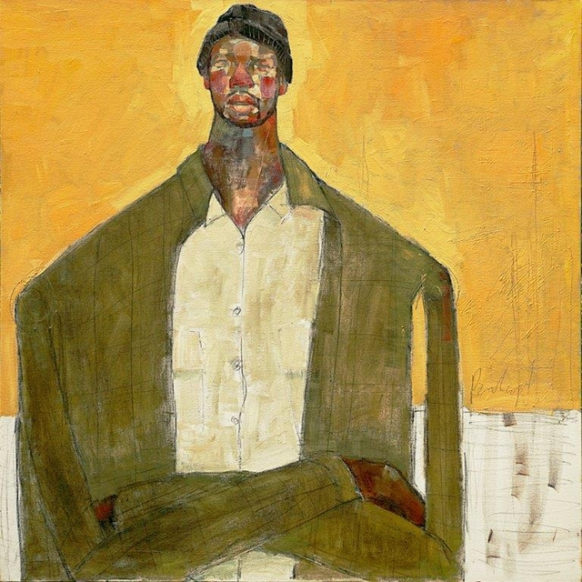 , 'Man on Yellow,' 2018, One Off Contemporary Art Gallery