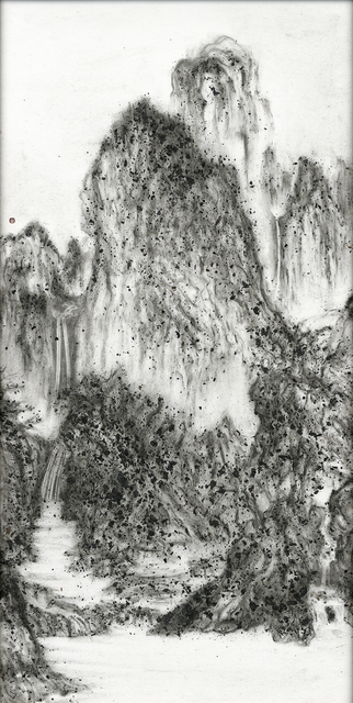 , 'Fiery Ink, A Solitary Temple Amid Clearing Peaks by Li Cheng,' 2017, Tina Keng Gallery