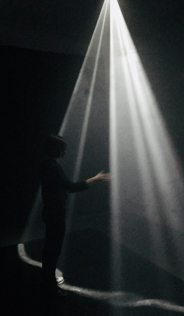 Floating Point Collective, 'Curtain of Light', 2017, Installation, Custom Software, Projector, Kinect, Computer, Wallplay