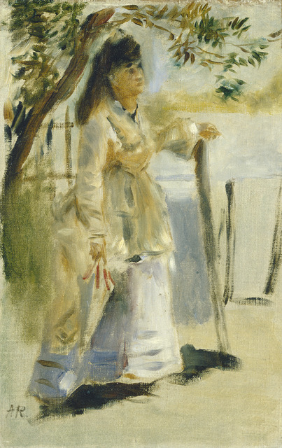 Pierre-Auguste Renoir, 'Woman by a Fence', 1866, Painting, Oil on canvas, National Gallery of Art, Washington, D.C.
