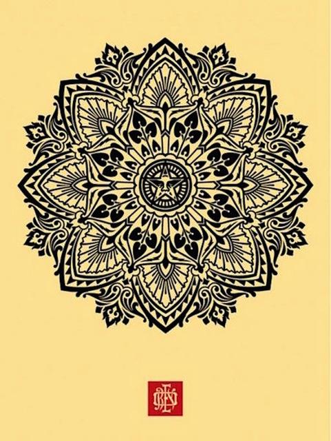 Shepard Fairey (OBEY), 'Mandala Ornament Cream ', 2010, Gregg Shienbaum Fine Art
